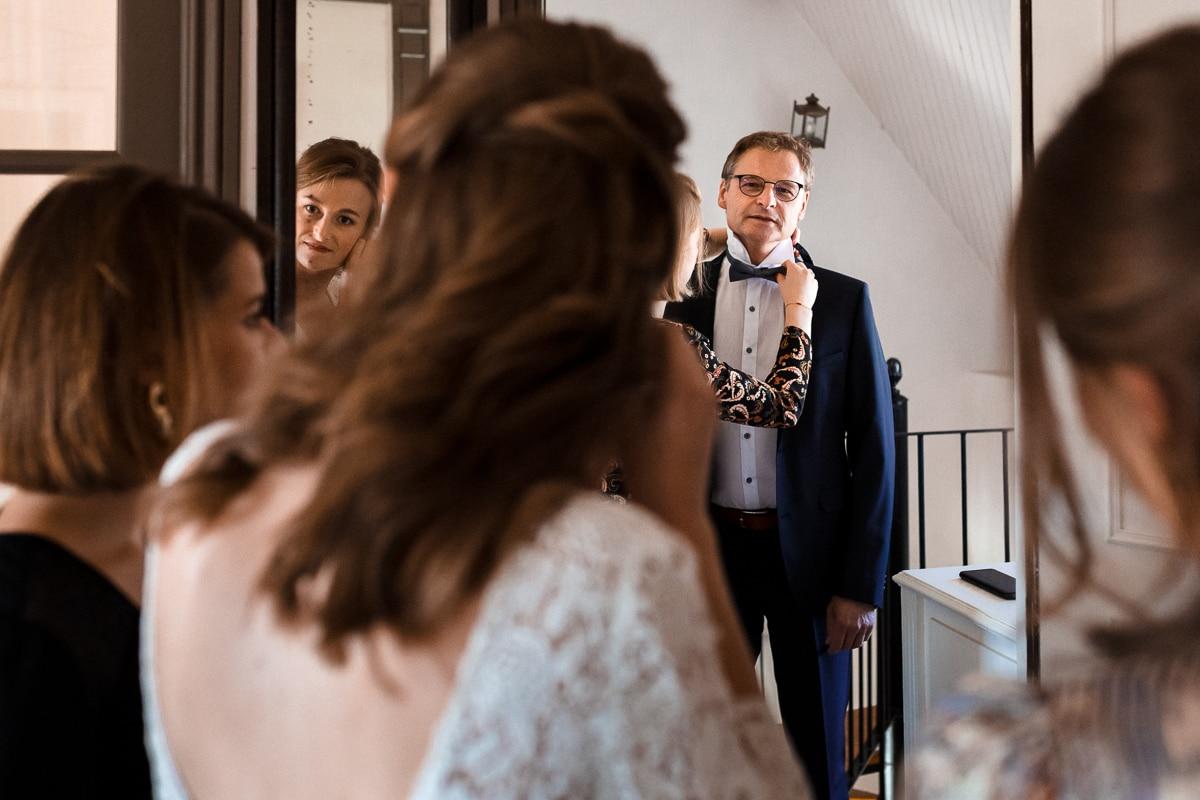 les mariés et leur famille - reportage de mariage au Domaine de Verderonne dans l'Oise